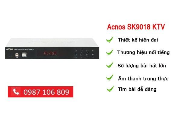 ĐẦU DVD KARAOKE ACNOS SK9018KTV tại Lạc VIệt audio