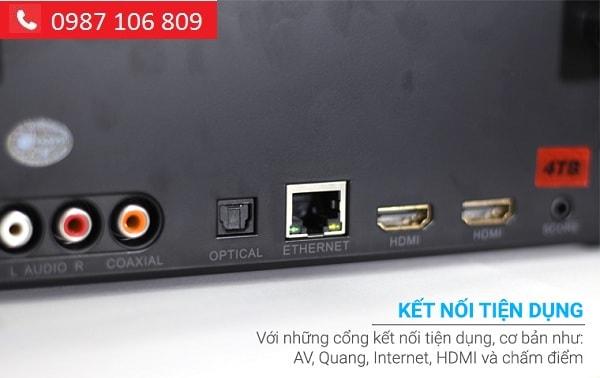 ĐẦU KARAOKE HANET BEATX PRO 4TB cổng kết nối