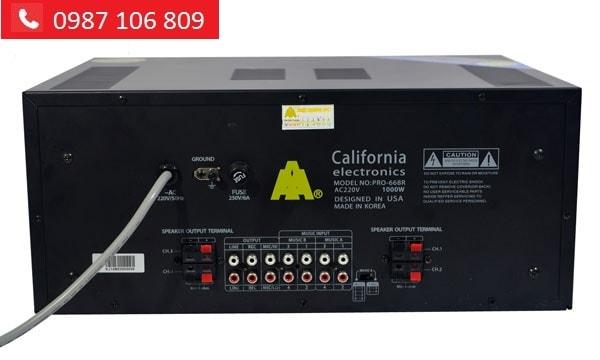 Amply CALIFORNIA PRO 668R mặt sau