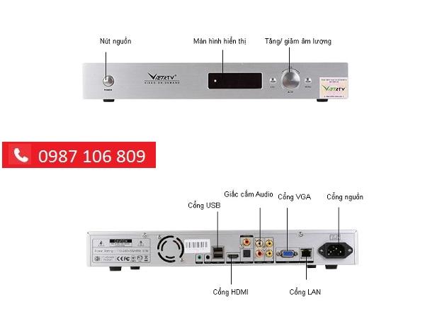 Chi tiết ĐẦU KARAOKE VIỆT KTV HDMI 3TB