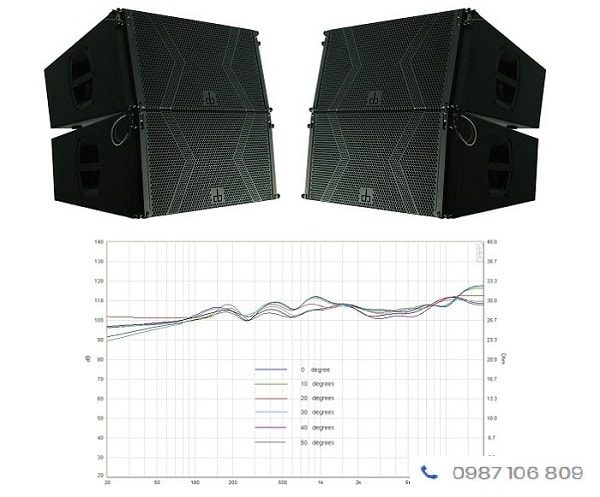 Loa line array DB LA-212F cho âm thanh ngoài trời