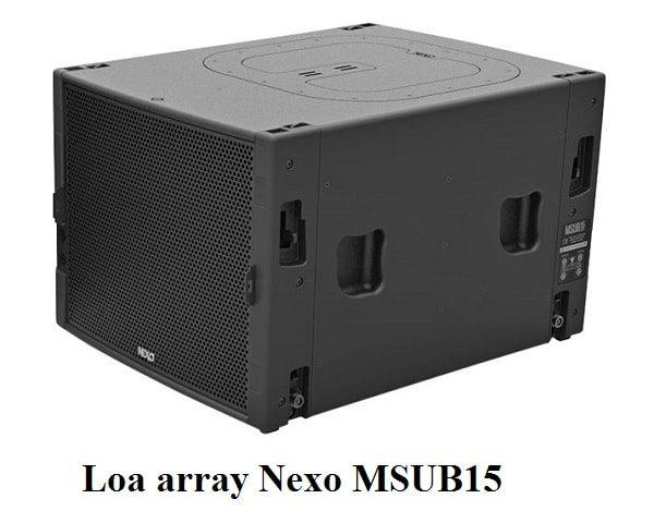 Loa array Nexo MSUB15 chính hãng